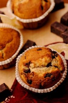 Muffins caseiros com gengibre cristalizado