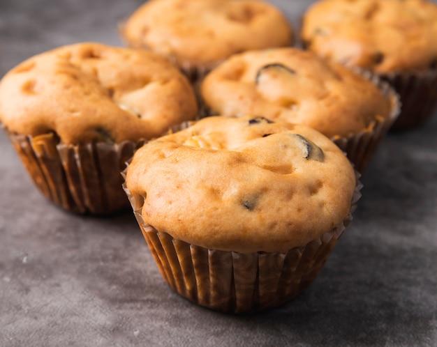 Muffins caseiros deliciosos do close-up