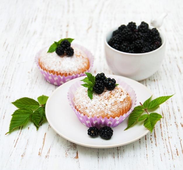 Muffins com amora