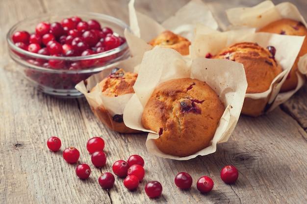 Muffins com cranberries