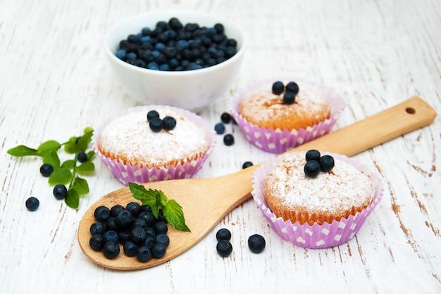 Muffins com mirtilo