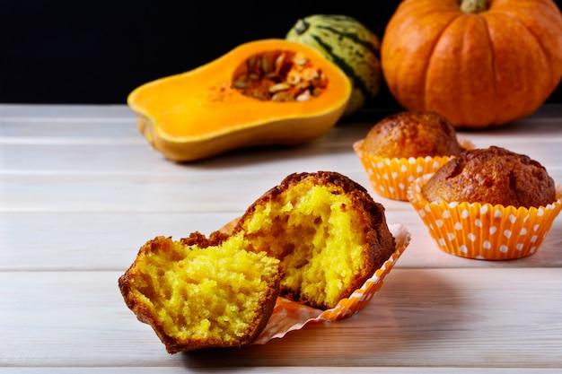 Muffins de abóbora com especiarias e especiarias