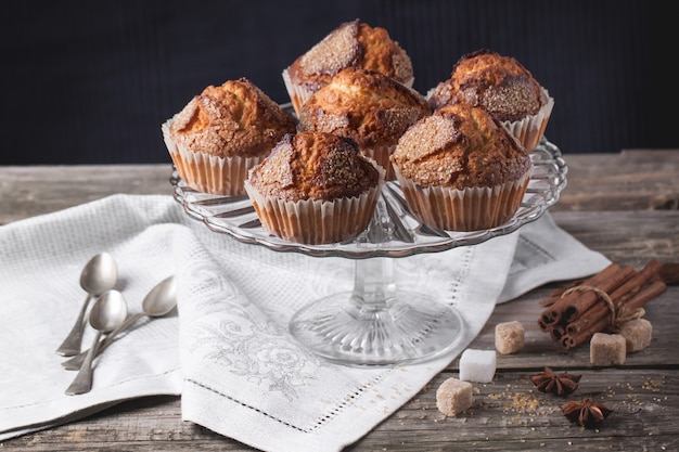 Muffins de açúcar com canela
