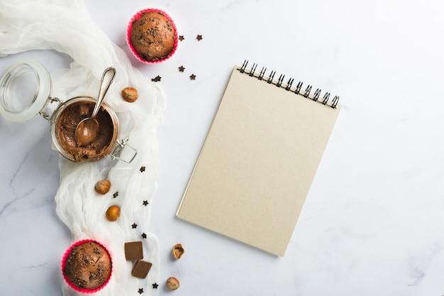 Muffins de chocolate e receita