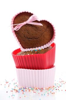 Muffins de forma de coração