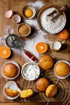 Muffins de laranjas cítricas