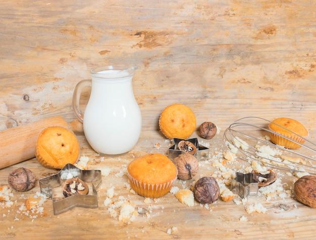Muffins e nozes