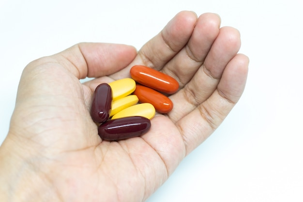Muita vitamina na mão