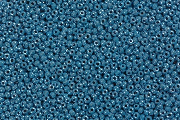 Muitas contas de vidro azuis. foto de alta resolução.