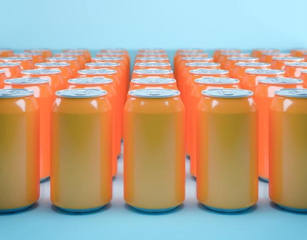 Muitas latas de refrigerante
