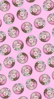 Muitas latas de spray usadas para desenho de grafite encontra-se em rosa