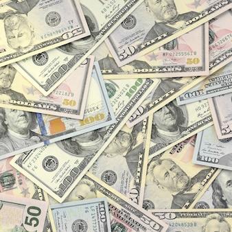 Muitas notas de cento e cinquenta dólares