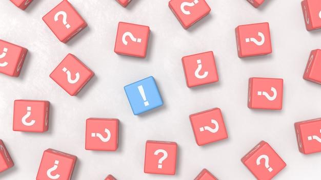 Muitas perguntas e conceitos de ilustração de uma resposta