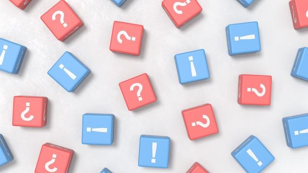 Muitas perguntas e muitas respostas, conceitos de ilustração