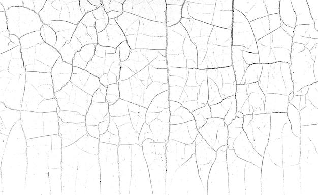 Muitas rachaduras caóticas na superfície do material texturizado.
