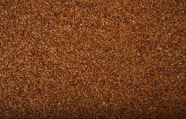 Muitas sementes de linho como pano de fundo