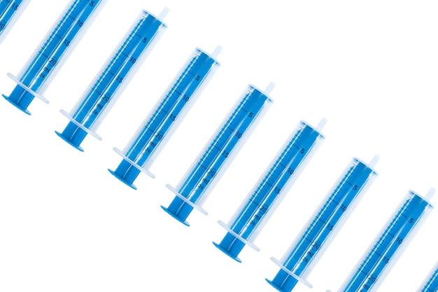 Muitas seringas médicas