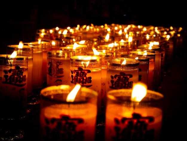 Muitas velas asiáticas
