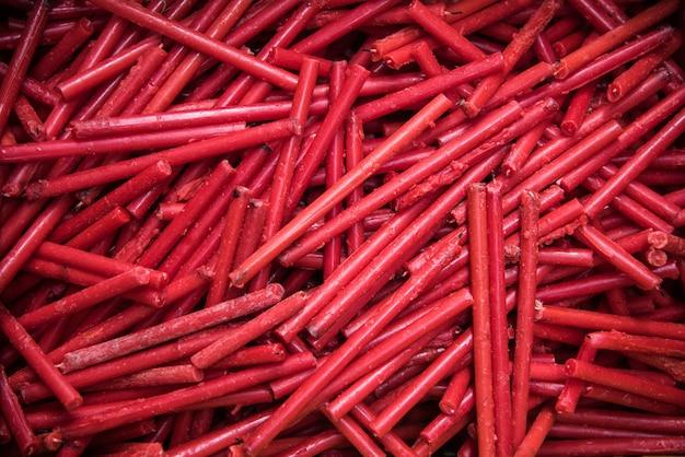 Muitas velas vermelhas textura de fundo