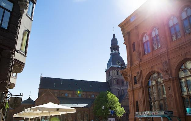 Muito bela cidade velha de riga, na letónia.