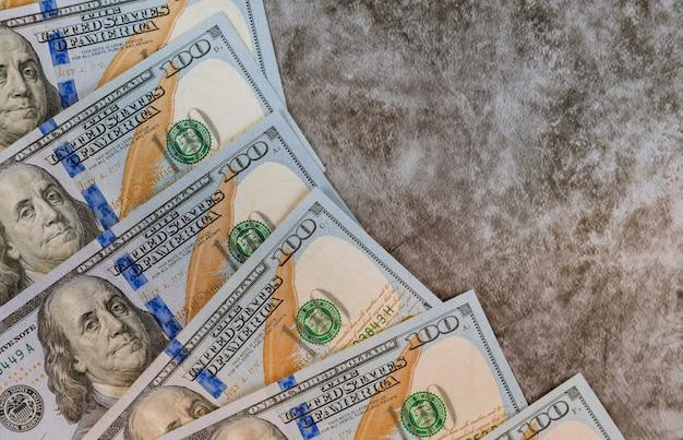Muito dinheiro americano de dólares close-up