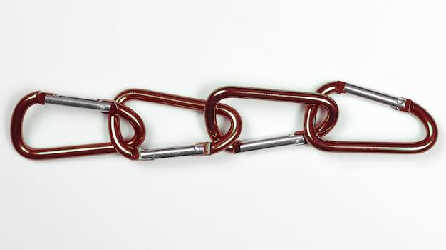 Muito ligados uns aos outros mosquetões de alumínio