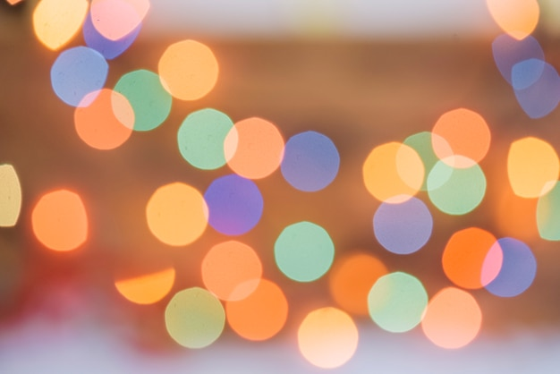Muitos borrões coloridos de luzes