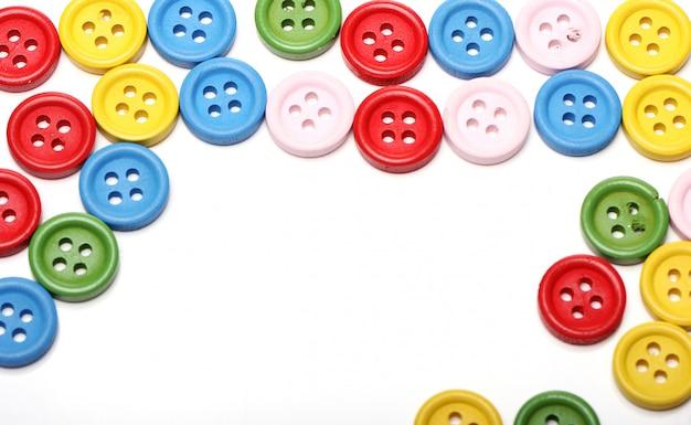 Muitos botões coloridos