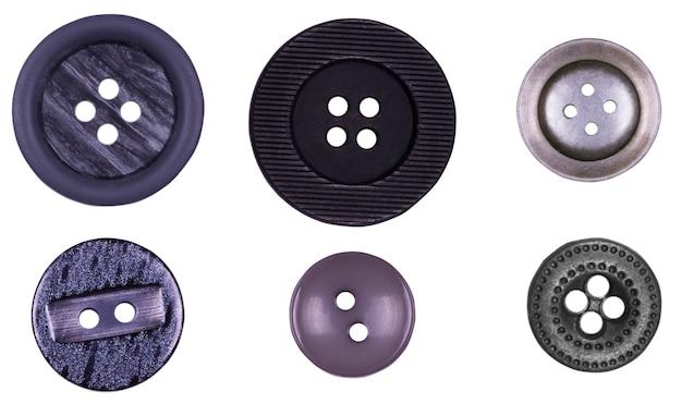 Muitos botões isolados no branco