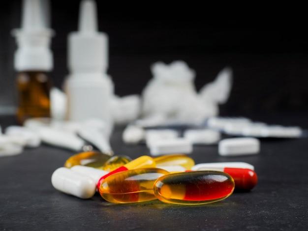 Muitos comprimidos em blister
