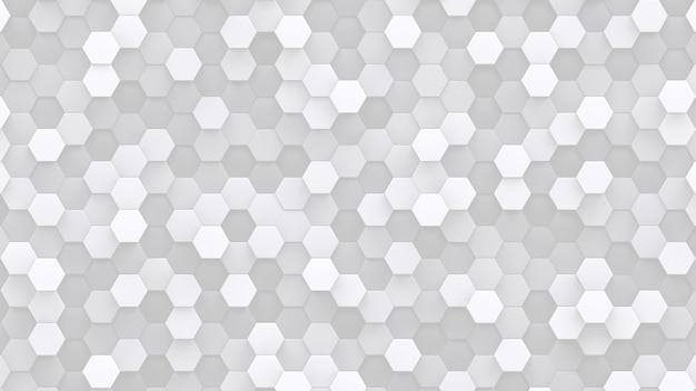 Muitos glóbulos brancos hexagonais. pano de fundo abstrato de baixo contraste