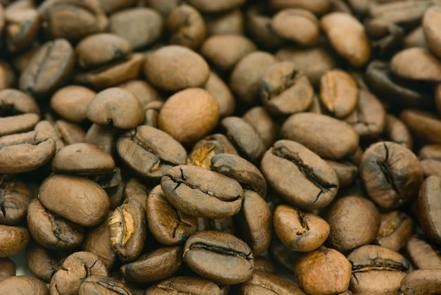 Muitos grãos de café