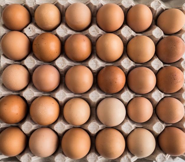 Muitos ovos no pacote