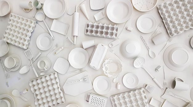 Muitos utensílios de cozinha
