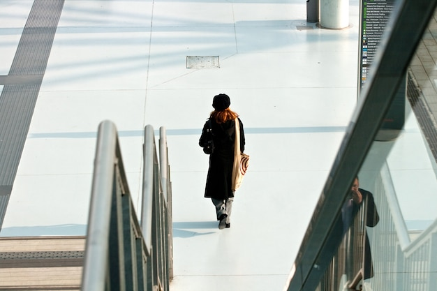 Mulher andando