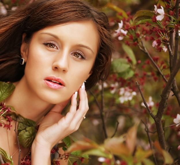 Mulher ao ar livre, close-up
