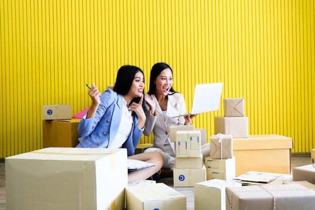 Mulher asiática, começando um pequeno negócio