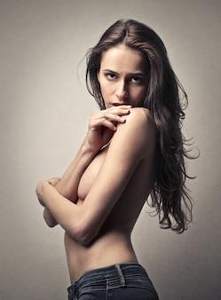 Mulher atraente sexy