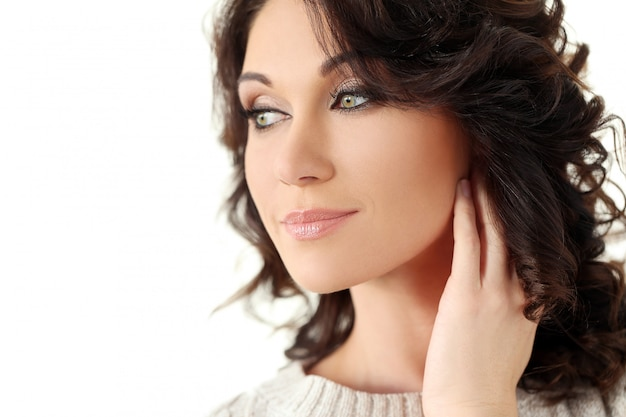 Mulher bonita atraente