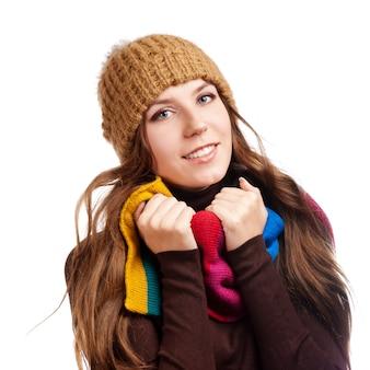 Mulher bonita do inverno