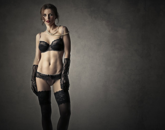 Mulher bonita em lingerie