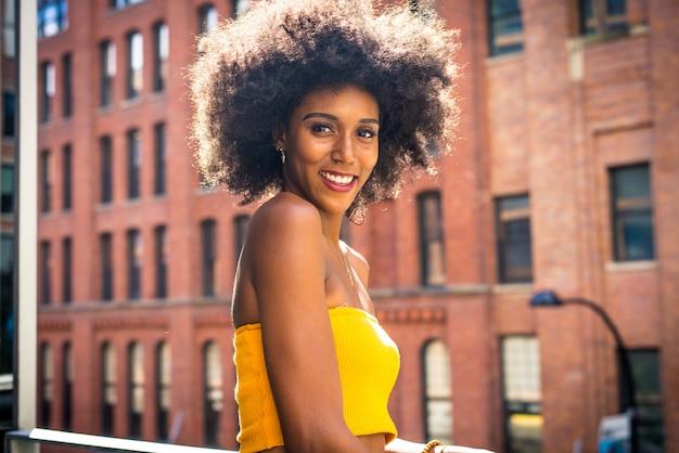 Mulher bonita em nova york
