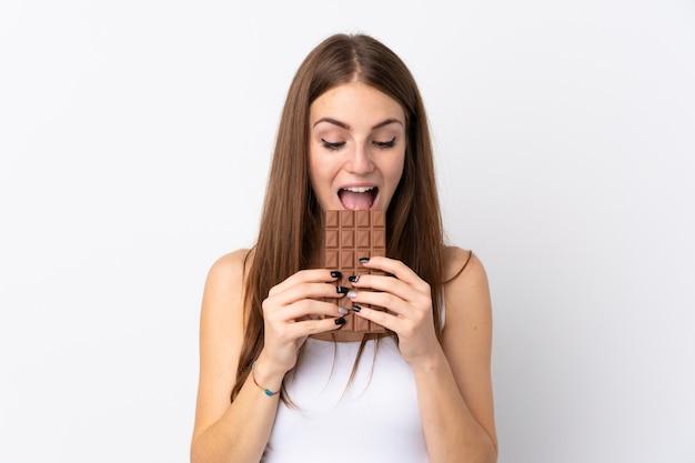 Mulher com chocolate