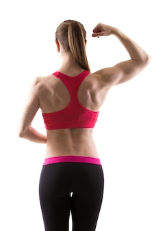 Mulher com muitos músculos