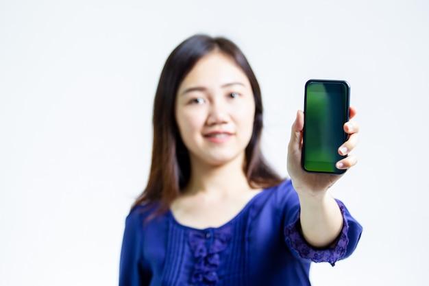 Mulher com telefone