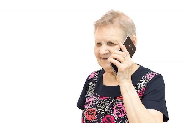 Mulher, com, um, telefone móvel
