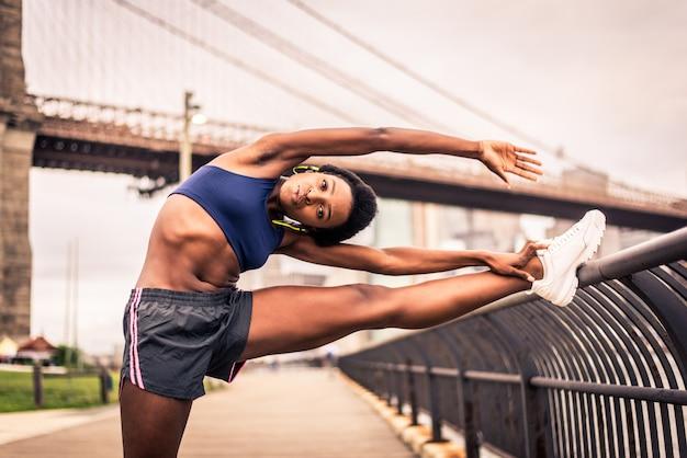 Mulher correndo em nova york