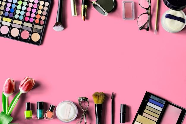 Mulher cosméticos maquiagem beleza feminina