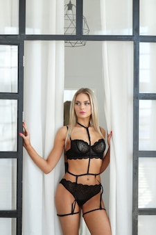 Mulher de lingerie