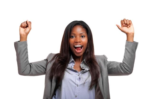 Mulher de negócios afro bem sucedida